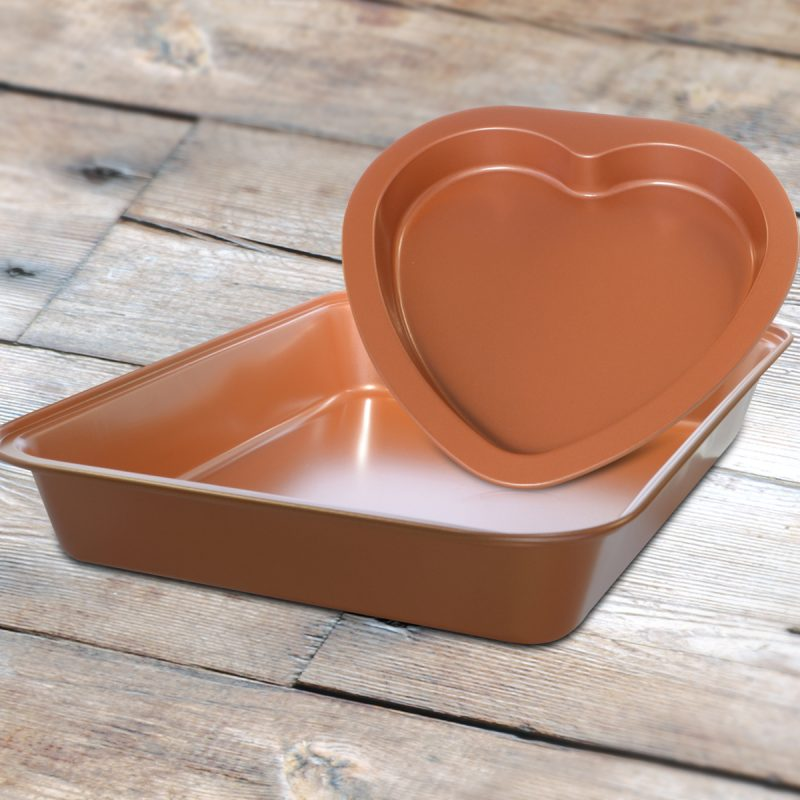 heart shaped copper bakeware PG93854